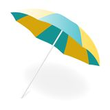Beach umbrella, vector illustration Royalty Free Stock Photo