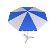 Beach umbrella  on white bcakground. 3d. Royalty Free Stock Images