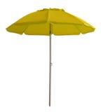 Beach umbrella - yellow Stock Photography