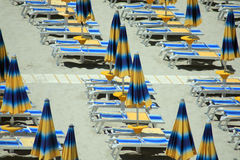 Beach umbrellas stock image