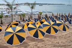 Beach umbrellas Stock Photo