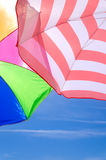Beach umbrellas background Royalty Free Stock Photos