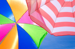 Beach umbrellas background Stock Photography