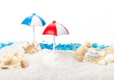 Beach umbrellas, beach Stock Image