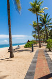 Beach umbrellas on a beautiful beach in Bali Stock Photography