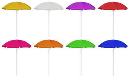 Beach umbrellas - colorful Royalty Free Stock Images