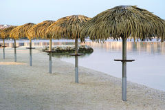 Beach umbrellas. Stock Photo