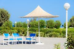 Beach umbrellas cyprus Stock Image