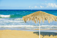 Beach umbrellas cyprus Royalty Free Stock Photography