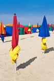 Beach umbrellas, Deauville Stock Image