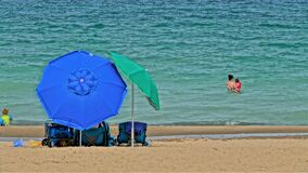 Free Beach Umbrellas For A Hot Day Royalty Free Stock Photography - 190683857