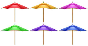 Beach umbrellas. Illustration of the beach umbrellas on a white background Stock Images
