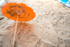 Beach umbrellas on the sand concept vacation Royalty Free Stock Photography