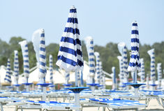 Beach Umbrellas at Seaside Royalty Free Stock Photography