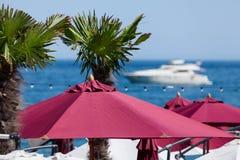 Beach umbrellas Stock Photo