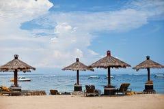 Beach umbrellas Royalty Free Stock Photos