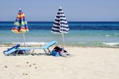 Beach umbrellas Stock Photos