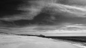 Beach at Todos Santos central Baja California Mexico BCS - black and white Stock Images
