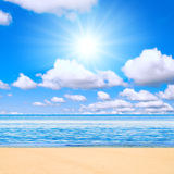 Beach under sun Stock Image