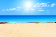 Beach under sun Royalty Free Stock Photography