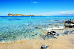 The beach on uninhabited island royalty free stock photography