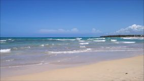 Beach at uvero alto stock footage