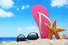 Beach vacation concept Royalty Free Stock Image