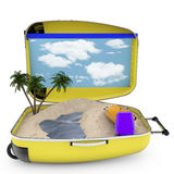 Beach vacation concept. Stock Image