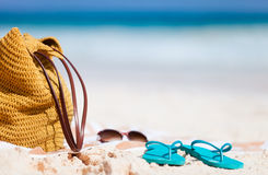 Beach vacation details Royalty Free Stock Photos