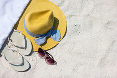 Beach vacation essentials Royalty Free Stock Photo