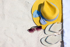 Beach vacation essentials Stock Photography
