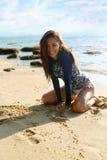 Beach Vacation. Happy Woman Having Fun. Summer Holidays Travel. Royalty Free Stock Photo