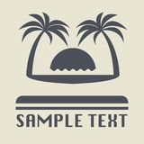 Beach vacation icon or sign. Vector illustration Stock Photos