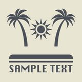Beach vacation icon or sign. Vector illustration Stock Image