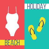 Beach vacation icon Vector illustration Royalty Free Stock Images