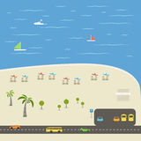 Beach vacation illustration Royalty Free Stock Image