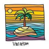 Beach Vacation Poster Royalty Free Stock Photos