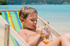Beach vacation at the seaside Royalty Free Stock Photography