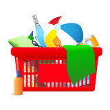 Beach Vacation shopping cart Stock Image