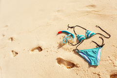 Beach vacation still life Royalty Free Stock Images