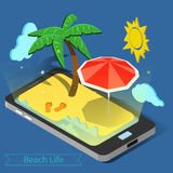 Beach Vacation. Summer Time. Tropical Vacation. Exotic Island Royalty Free Stock Images