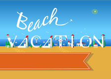 Beach vacation. Travel card Royalty Free Stock Photos