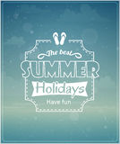 Beach vacation typographic background Royalty Free Stock Photo