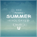 Beach vacation typographic background Royalty Free Stock Photography