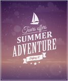 Beach vacation typographic background Stock Photography