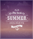 Beach vacation typographic background Royalty Free Stock Images
