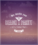 Beach vacation typographic background Royalty Free Stock Photos