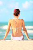Beach vacation woman Stock Image