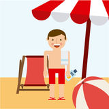 Beach vacations Royalty Free Stock Photo