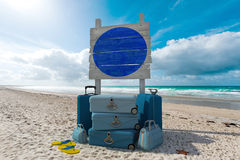 Beach vacations sign Stock Photo